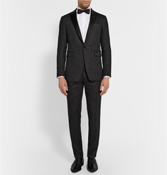 Burberry London Charcoal Slim-Fit Brushed-Cashmere Tuxedo