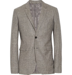 Burberry London Grey Slim-Fit Silk, Linen and Wool-Blend Tweed Blazer