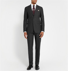 Burberry London Grey Regular-Fit Wool Suit