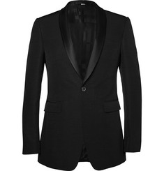 Burberry London Black Wool and Silk-Blend Tuxedo Jacket
