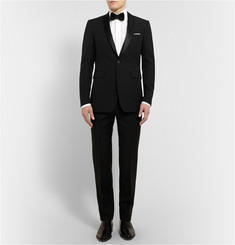 Burberry London Wool and Silk-Blend Tuxedo Jacket
