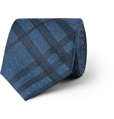 Burberry London Checked Silk and Cotton-Blend Tie