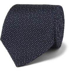 Burberry London Polka-Dot Woven-Silk Tie
