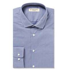 Burberry London Blue Slim-Fit Gingham Cotton-Poplin Shirt