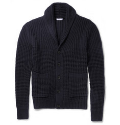Burberry Brit Wool and Cashmere-Blend Shawl-Collar Cardigan