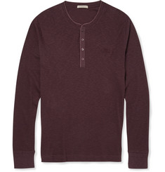 Burberry Brit Ribbed Cotton and Wool-Blend Henley T-Shirt