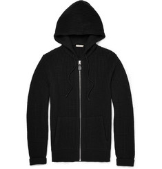 Burberry Brit Waffle-Knit Wool and Cashmere-Blend Hoodie