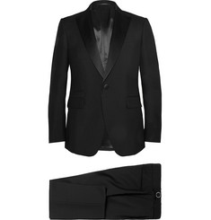 Berluti Black Slim-Fit Wool And Mohair-Blend Tuxedo