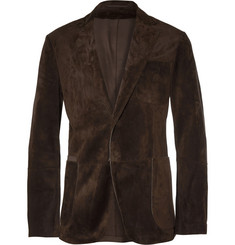 Berluti Brown Slim-Fit Unstructured Suede Blazer