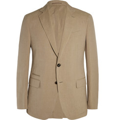 Berluti Tan Slim-Fit Linen and Silk-Blend Blazer