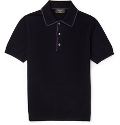 Berluti Cotton and Linen-Blend Jersey Polo Shirt