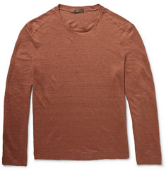 Berluti Slubbed Linen Long-Sleeved T-Shirt
