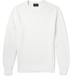 Berluti Contrast-Knit Cotton And Cashmere-Blend Sweater