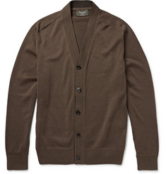 Berluti Suede-Trimmed Cotton and Silk-Blend Cardigan