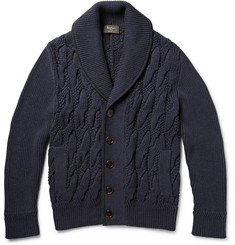 Berluti Nubuck-Trimmed Cotton and Cashmere-Blend Cardigan