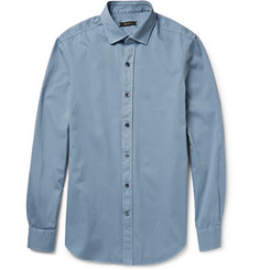 Berluti Garment-Dyed Cotton-Twill Shirt