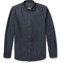 Berluti Indigo-Dyed Chambray Shirt