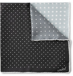 Lanvin Four-Tone Polka-Dot Silk Pocket Square