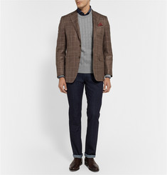 Brioni Cable-Knit Cotton and Cashmere-Blend Sweater