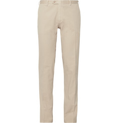 Brioni Brushed Stretch-Cotton Trousers