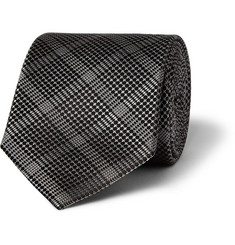 Brioni Checked Silk Tie