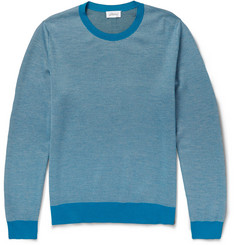 Brioni Wool and Silk-Blend Jacquard-Knit Sweater
