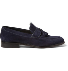 Brioni Tasselled Suede Loafers