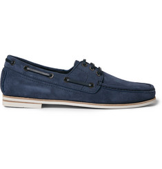 Brioni Suede Boat Shoes