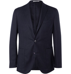 Boglioli - Navy Slim-Fit Wool-Hopsack Blazer