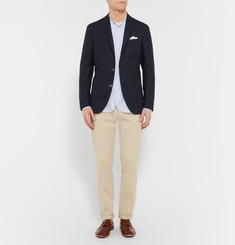 Boglioli Navy Slim-Fit Wool-Hopsack Blazer