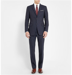 Gucci Navy Brera Slim-Fit Wool Suit