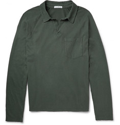 James Perse Long-Sleeved Supima Cotton Polo Shirt
