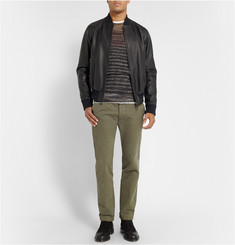 Tomas Maier Full-Grain Leather Bomber Jacket