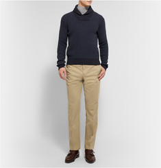 Dunhill Croft Straight-Leg Cotton-Twill Trousers