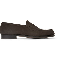 J.M. Weston 180 The Moccasin Suede Loafers