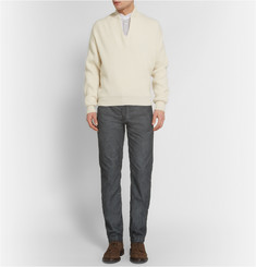 Massimo Alba Slim-Fit Garment-Dyed Corduroy Trousers