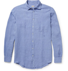 Massimo Alba Genova Garment-Dyed Striped Linen Shirt