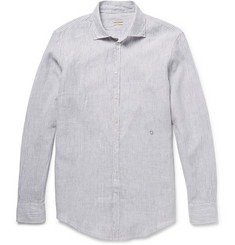 Massimo Alba Genova Garment-Dyed Striped Cotton Shirt
