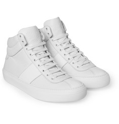 Jimmy Choo Belgravia Full-Grain Leather High Top Sneakers