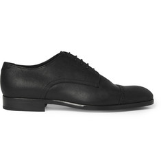 Jimmy Choo Prescott Waxed-Suede Derby Shoes