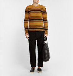 Loewe Striped Chunky-Knit Cotton-Blend Sweater