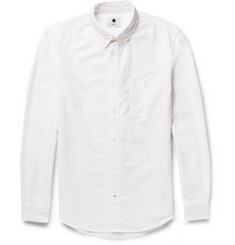 NN.07 New Derek Button-Down Collar Brushed-Cotton Oxford Shirt