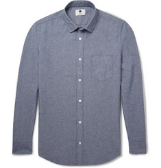 NN.07 Frede Slim-Fit Cotton-Chambray Shirt