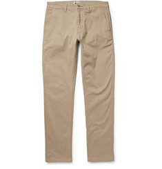 NN.07 Marco Slim-Fit Brushed Stretch-Cotton Twill Chinos