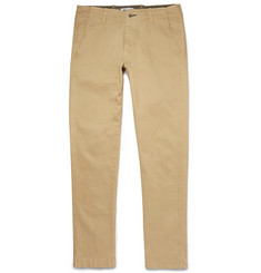 NN.07 Slim-Fit Simon Brushed Cotton-Twill Chinos