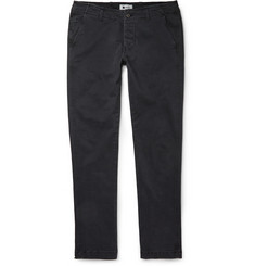 NN.07 Simon Slim-Fit Brushed-Cotton-Blend Chinos