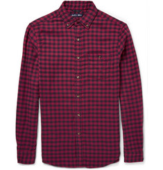 Alex Mill Button-Down Collar Checked Cotton Shirt