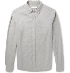 Alex Mill Button-Down Collar Brushed-Cotton Shirt