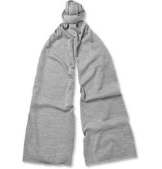 John Smedley Helden Knitted Cashmere and Silk-Blend Scarf