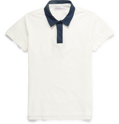 Orlebar Brown Harold Contrast-Collar Cotton-Twill Polo Shirt